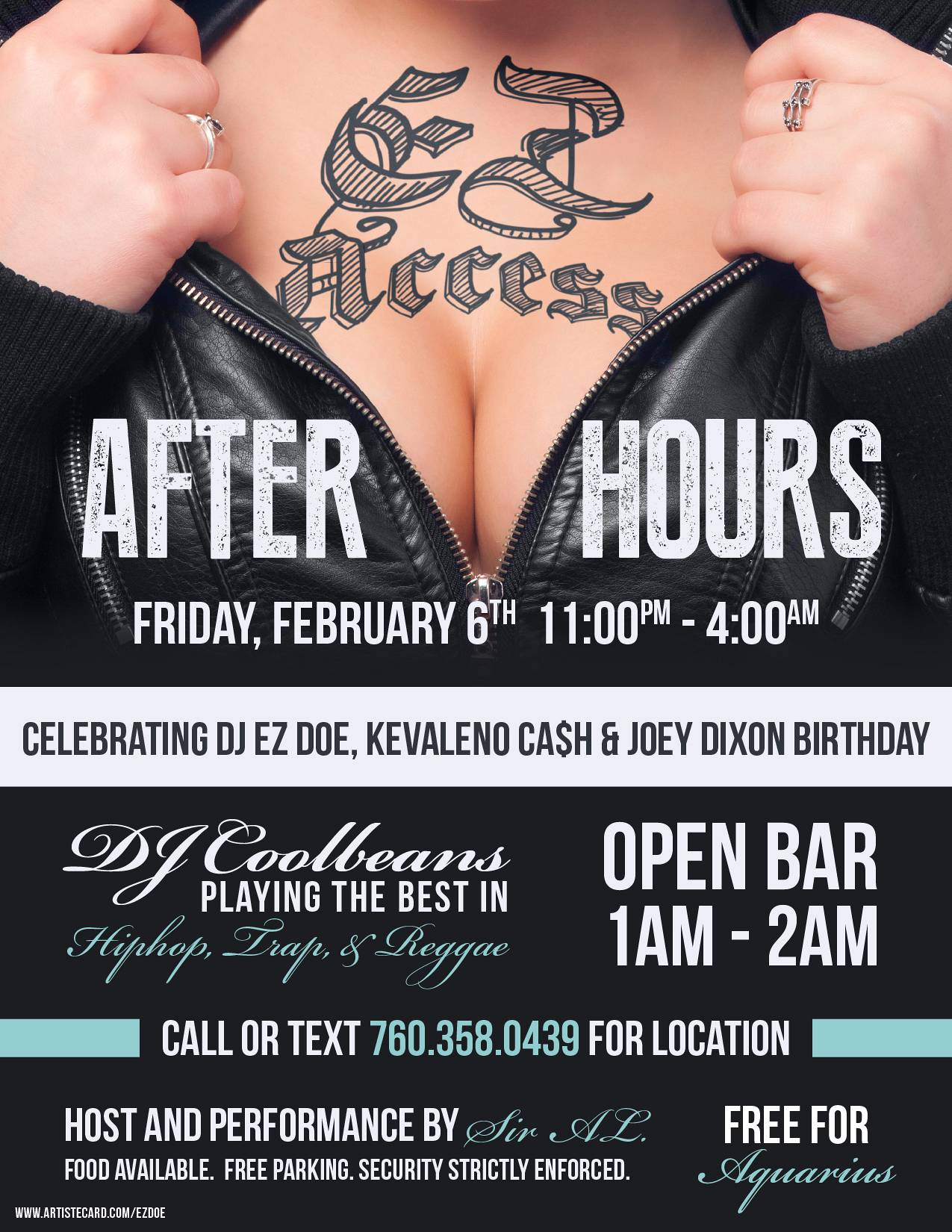 EZ Access AFTER HOURS Digital Flyer Design