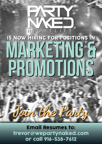 Party Naked Marketing & Promotions Job Digital Advertisement