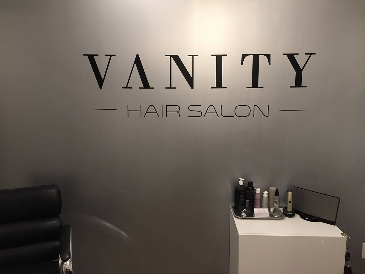 Vanity Hair Salon Logo Vinyl